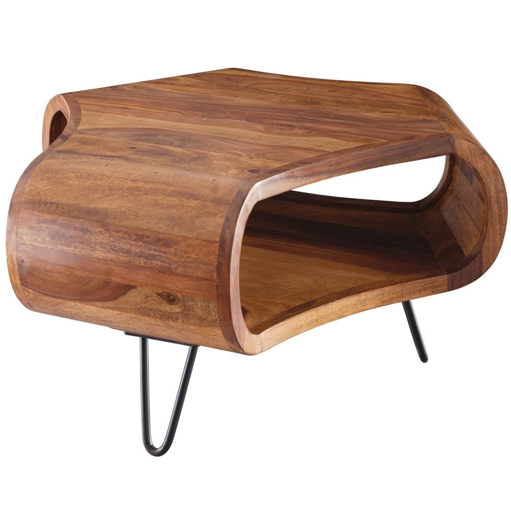 Konferenční stolek Leila, 55 cm, masiv Sheesham