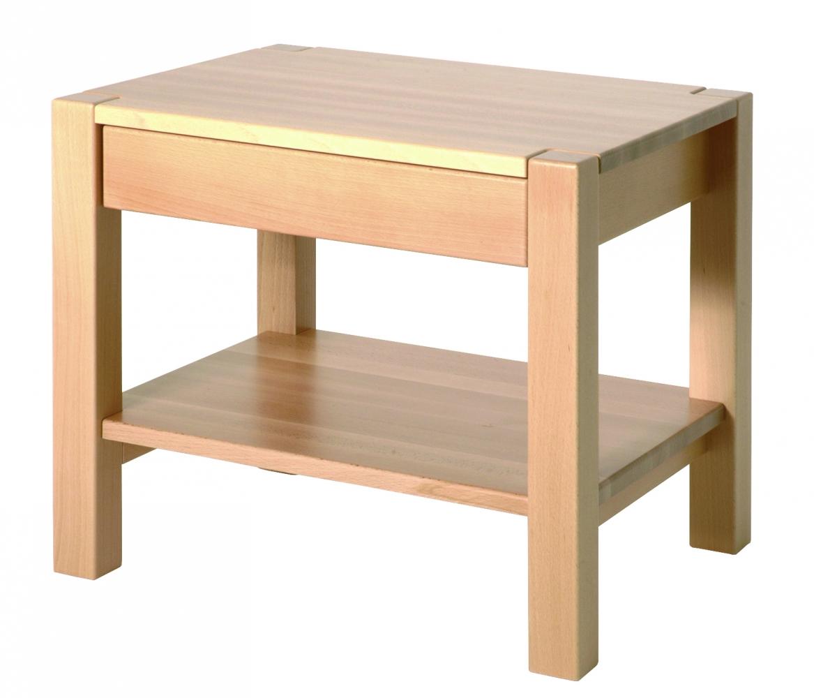Konferenční stolek Lendon, 50 cm, buk