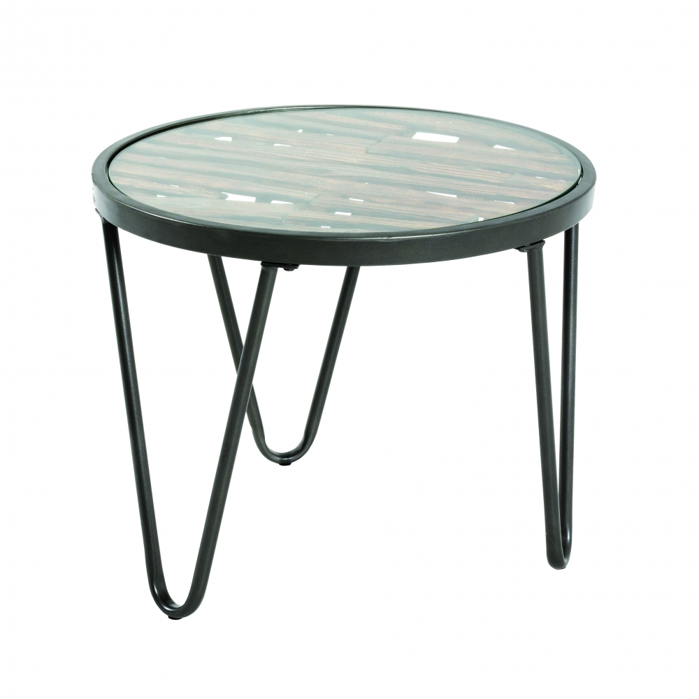 Konferenční stolek Leo, 43 cm, antracitová