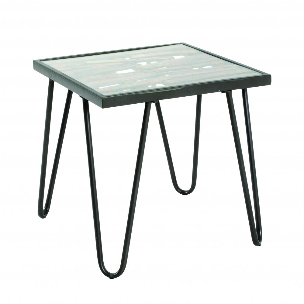 Konferenční stolek Leo, 50 cm, antracitová