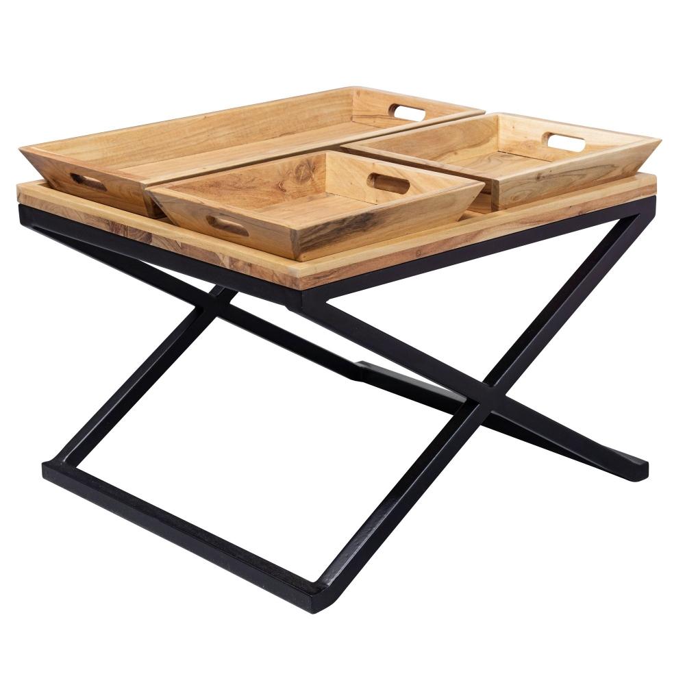 Konferenční stolek Lesi, 60 cm, akát
