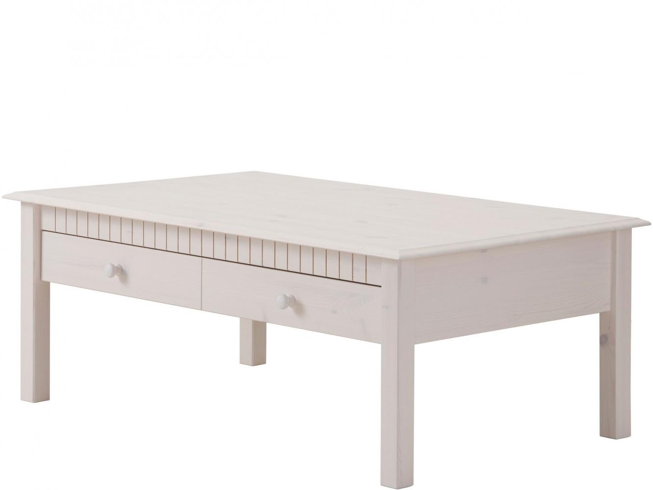 Konferenční stolek Linde, 110 cm, bílá