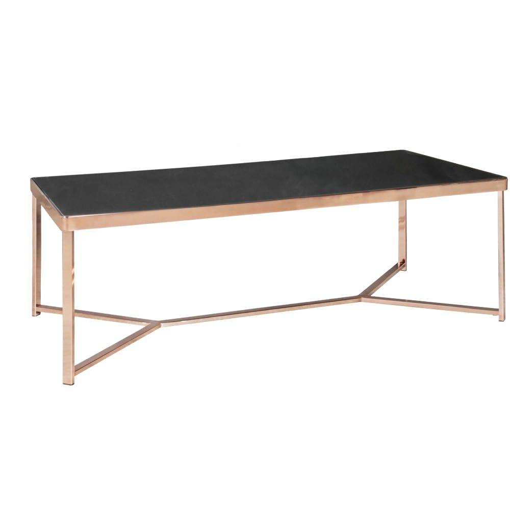 Konferenční stolek Lola, 120 cm, černá / měděná