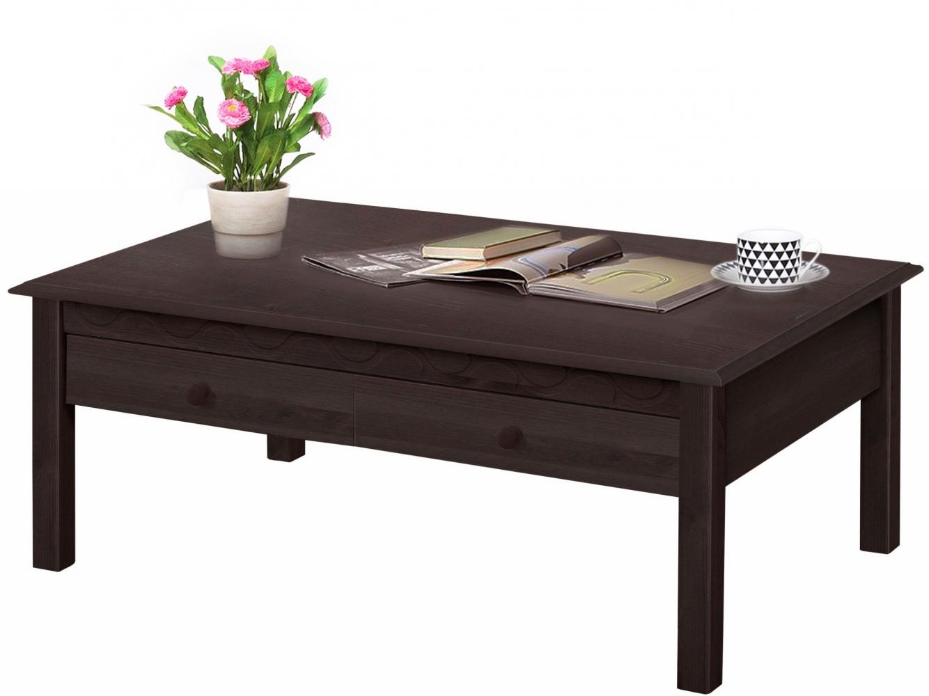 Konferenční stolek Londa, 110 cm, tmavě hnědá