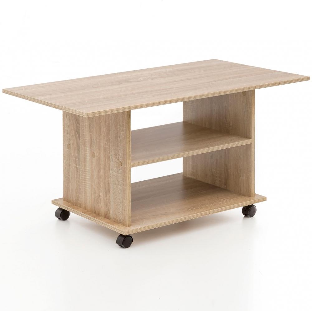 Konferenční stolek Luja, 95 cm, dub