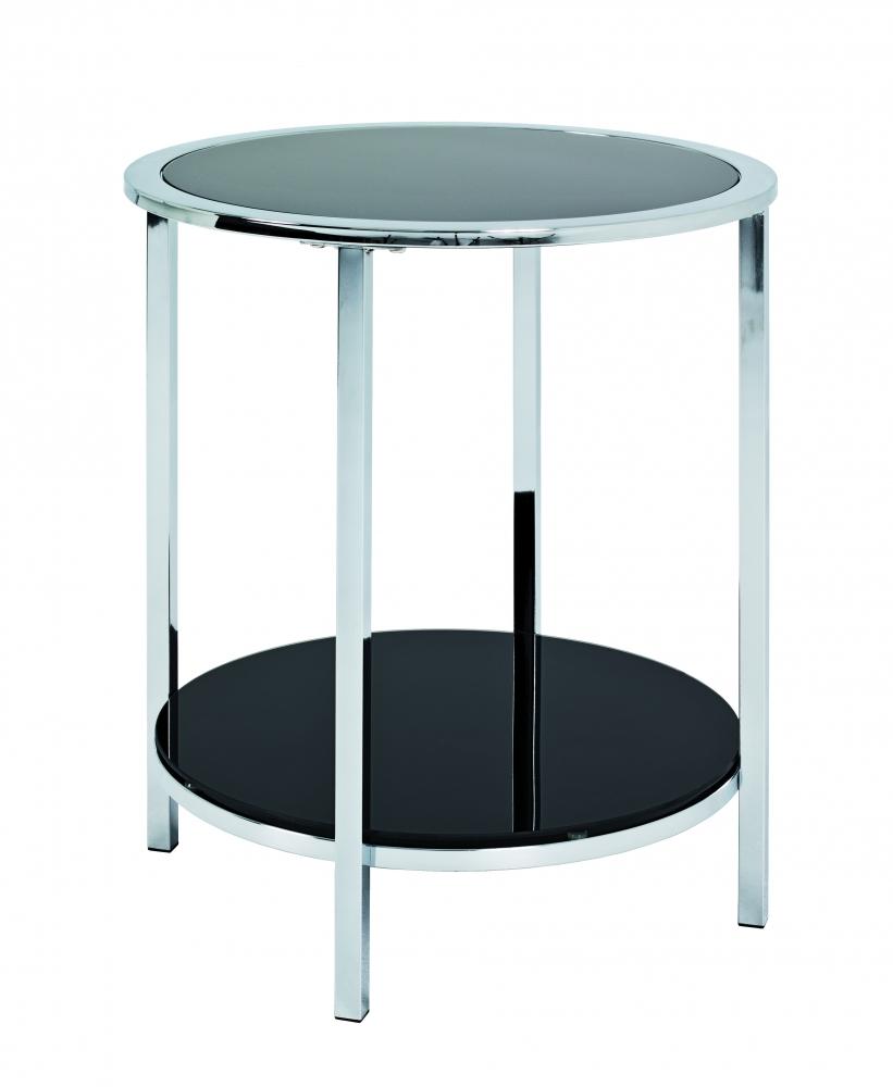 Konferenční stolek Merrick, 54 cm, černá / chrom