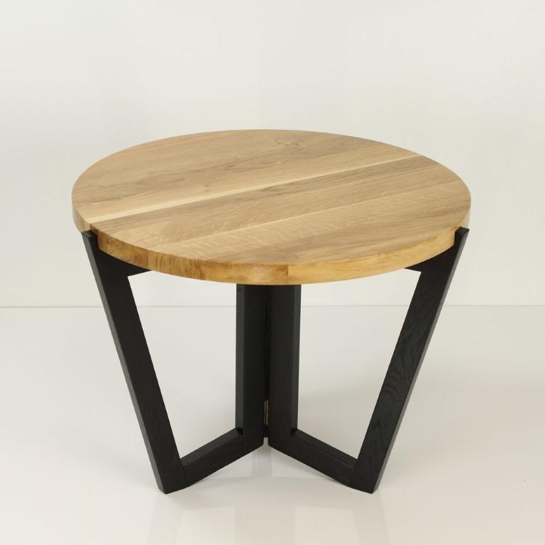 Konferenční stolek Mollen, 60 cm, černá/dub