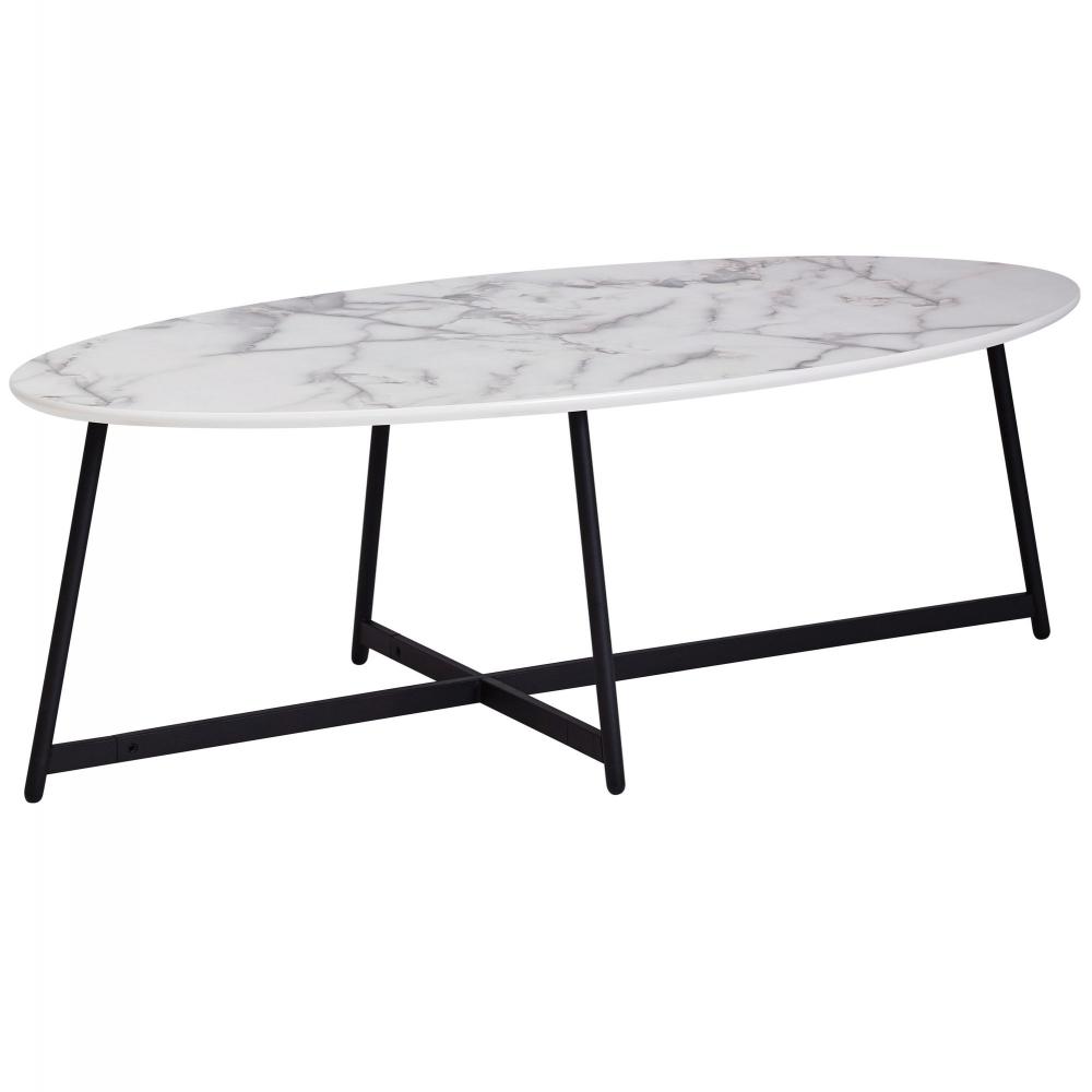 Konferenční stolek Narn, 120 cm, sv.mramor