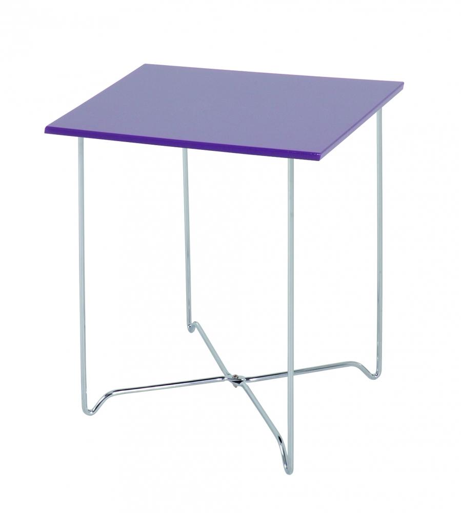 Konferenční stolek Nash, 51 cm, fialová