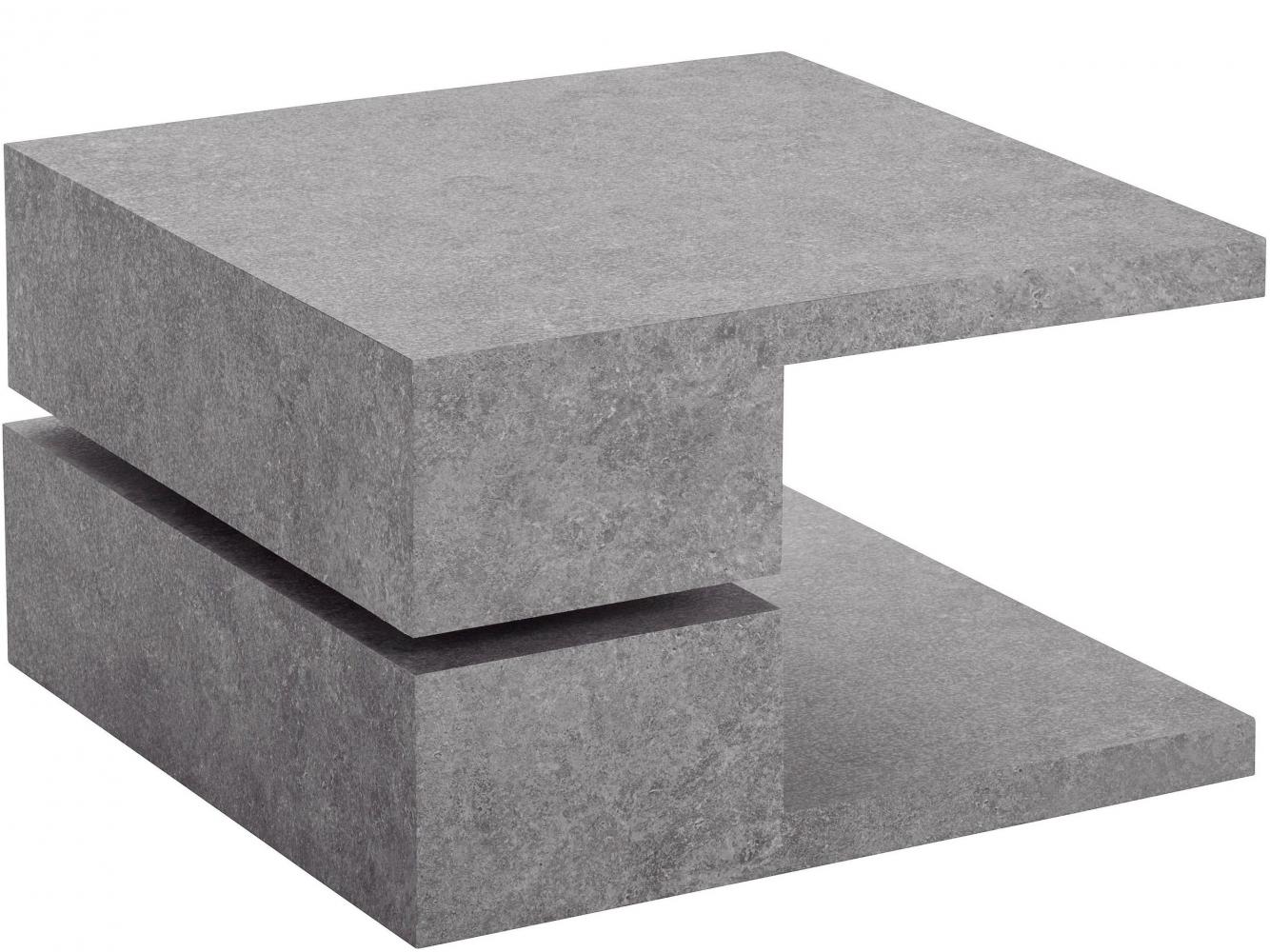 Konferenční stolek Pac, 60 cm, pohledový beton