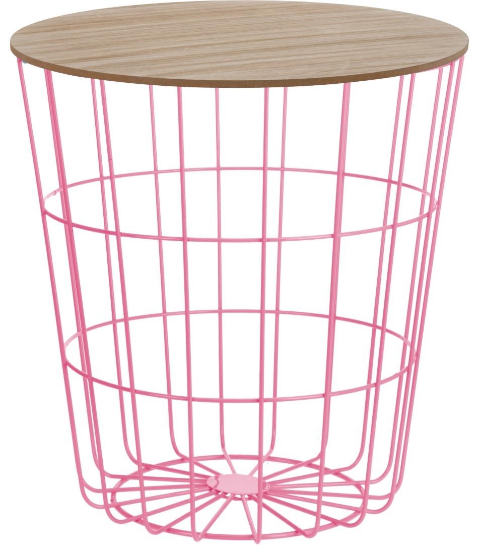 Konferenční stolek Pavola 2, 39 cm, růžová