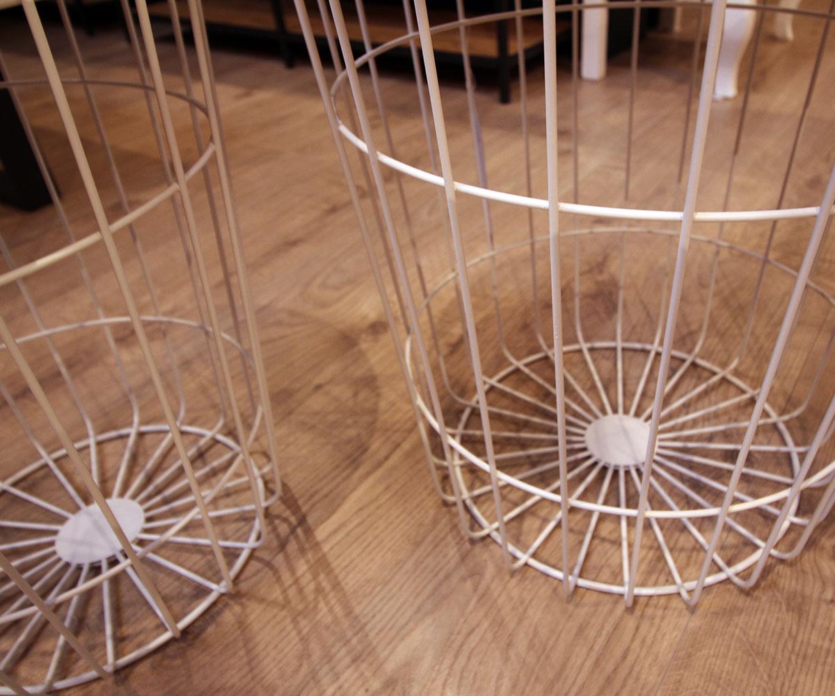 Konferenční stolek Pavola, 34 cm, bílá