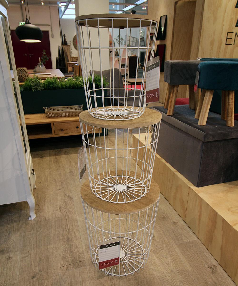 Konferenční stolek Pavola, 39 cm, bílá
