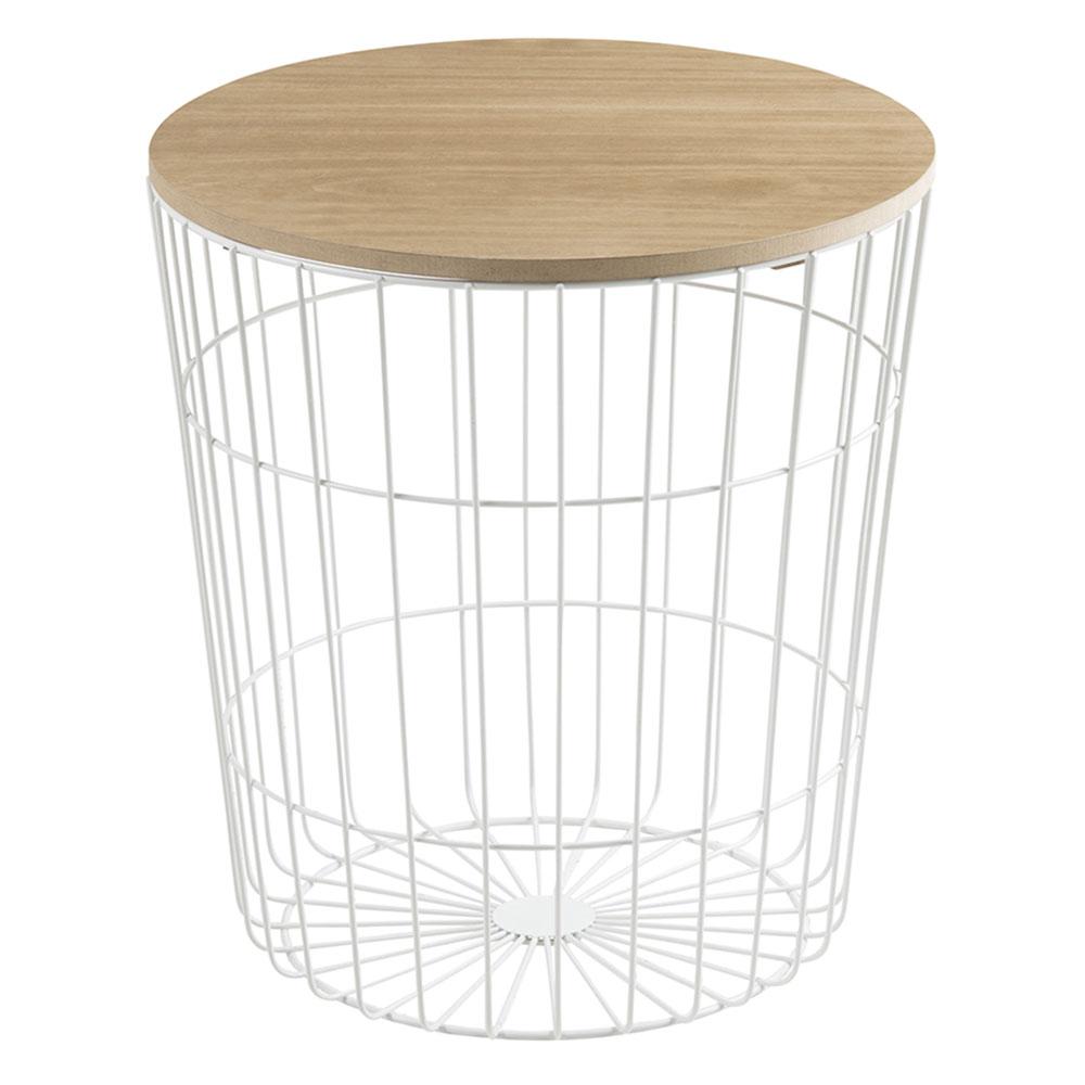 Konferenční stolek Pavola, 43 cm, bílá