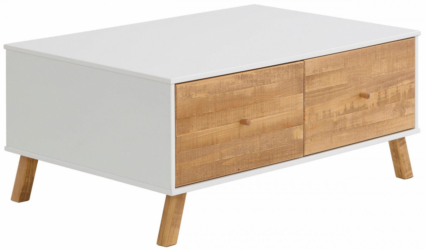 Konferenční stolek Rafell, 100 cm, bílá / borovice