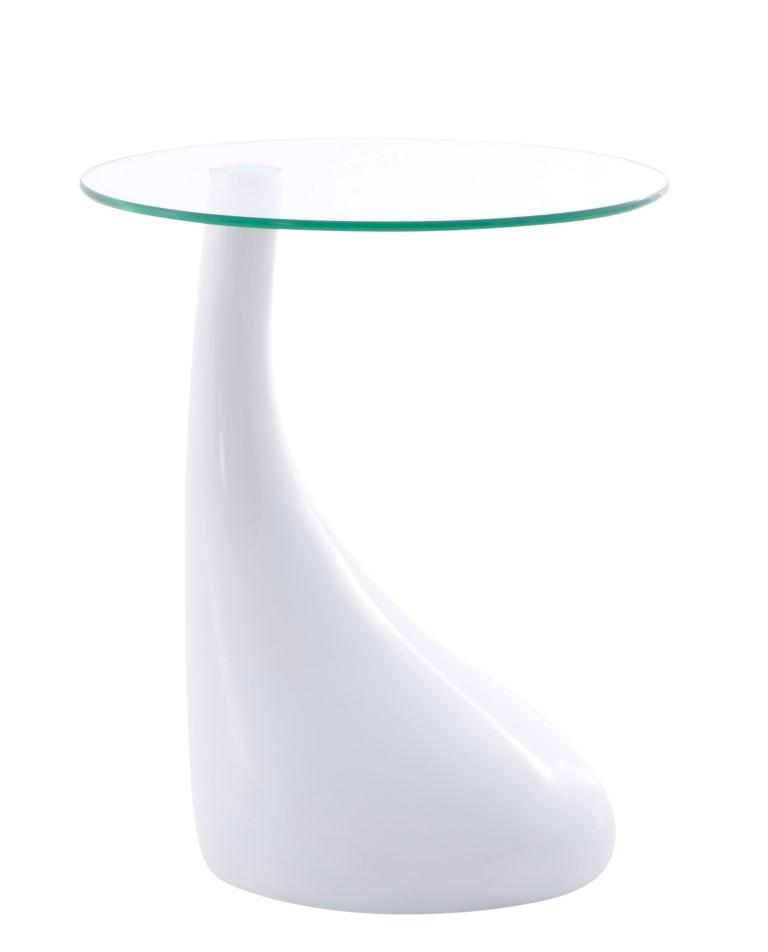 Konferenční stolek Rive, 45 cm, bílá