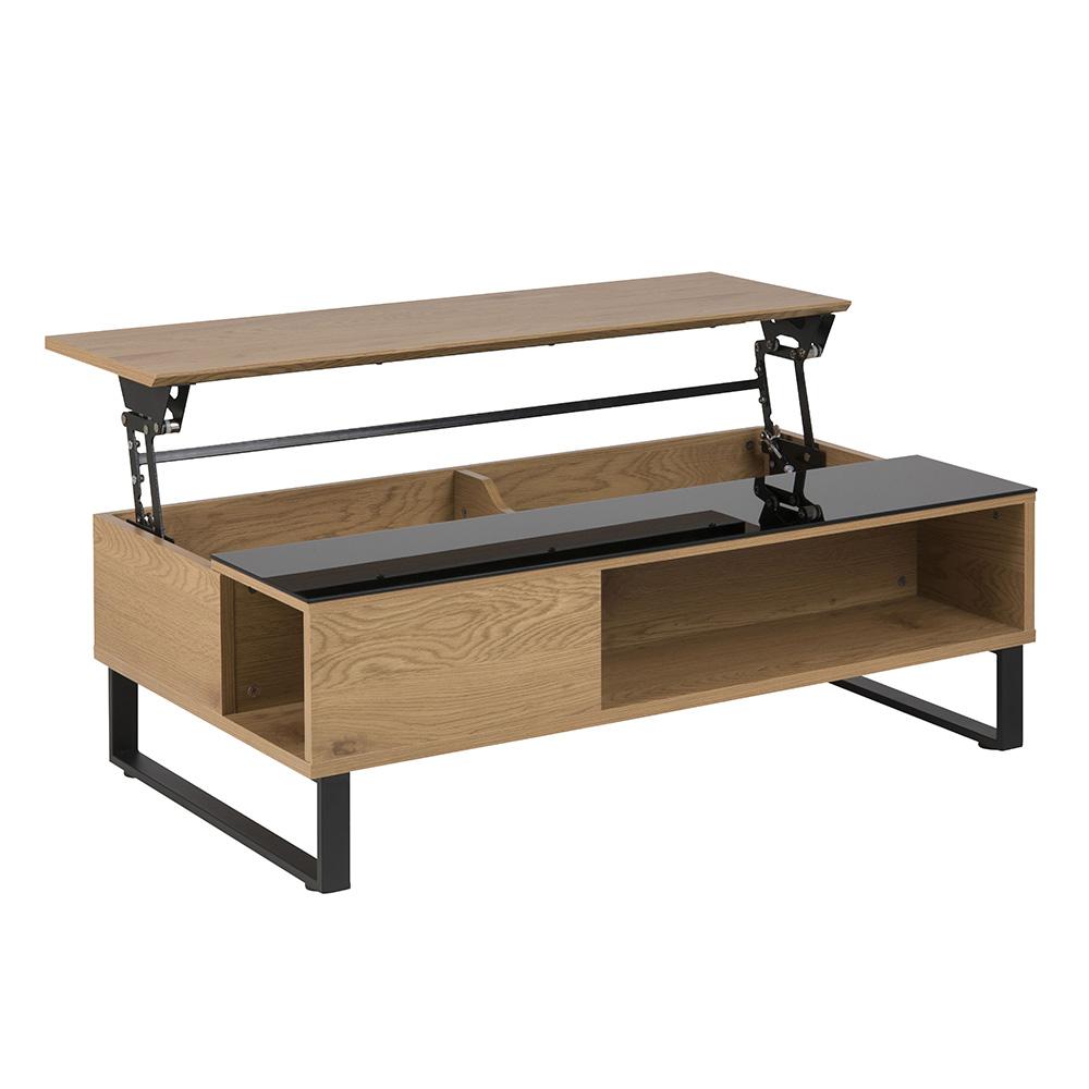 Konferenční stolek Rosemary, 110 cm, dub/černá
