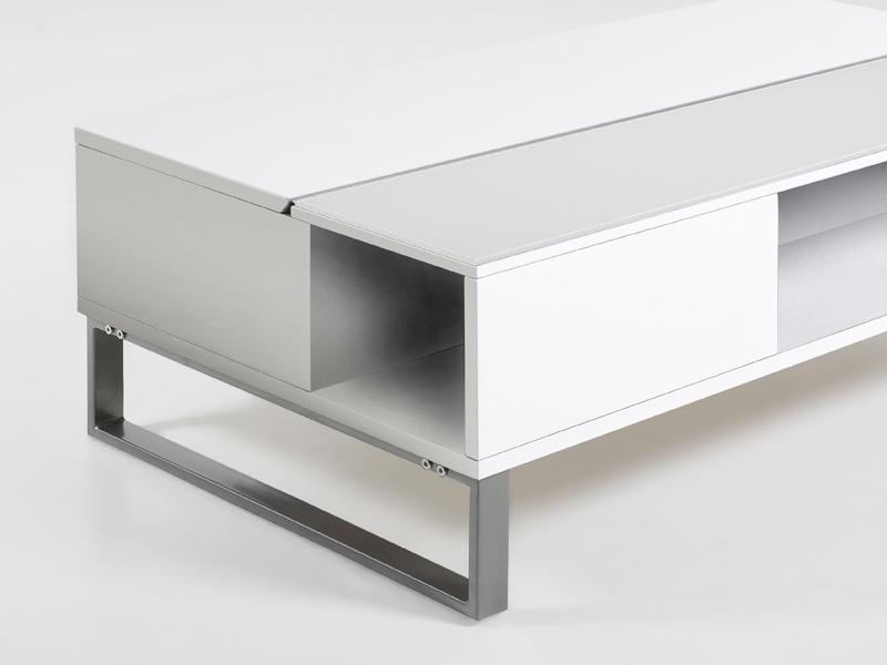 Konferenční stolek Rosemary, 110 cm, bílá