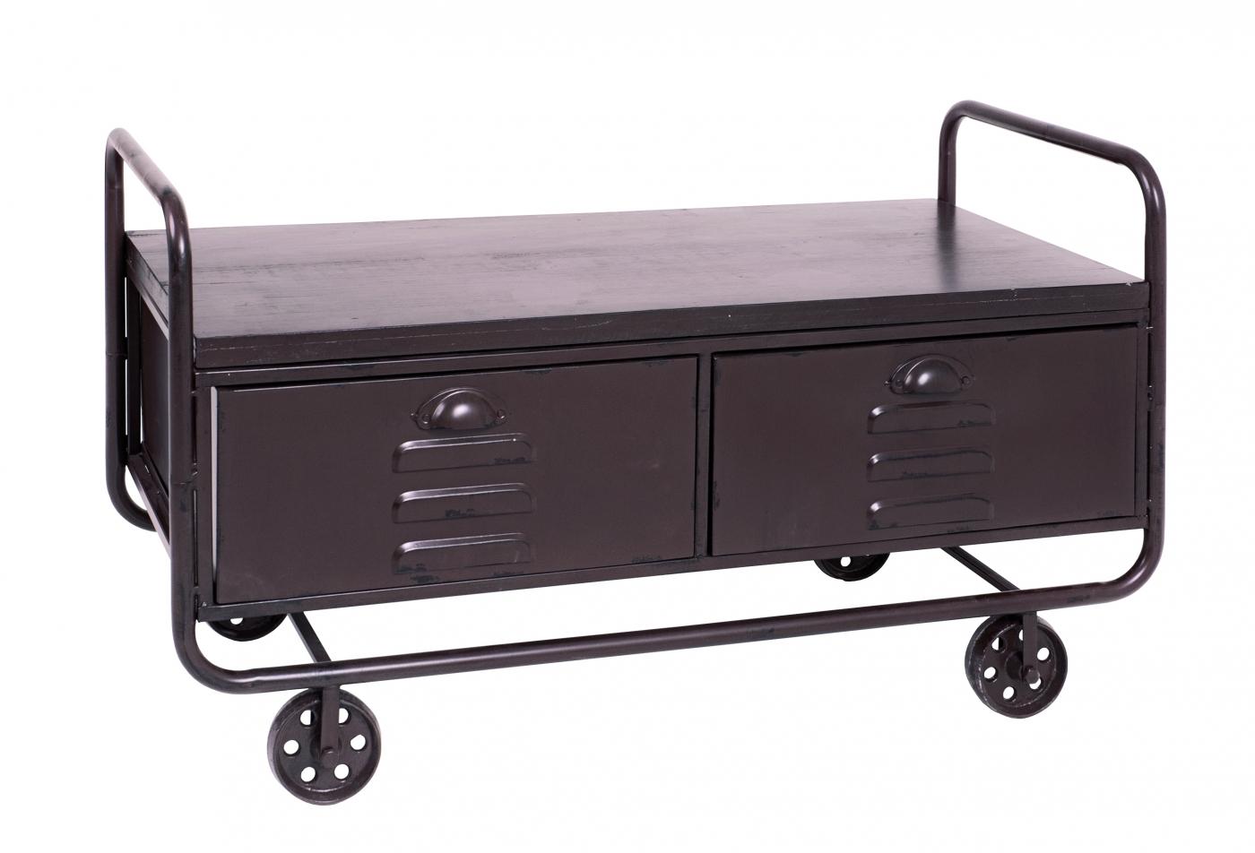 Konferenční stolek Rouse, 92 cm, hnědá