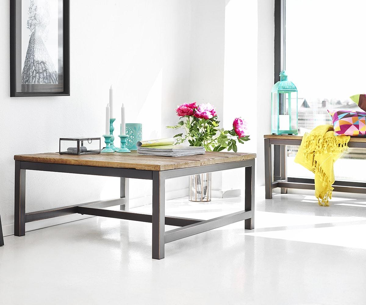 Konferenční stolek s dřevěnou deskou Harvest, 120 cm