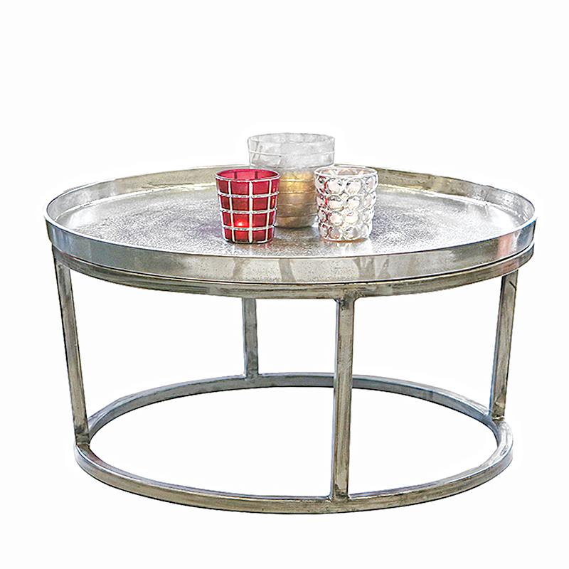 Konferenční stolek s hliníkovou deskou Raw, 70 cm