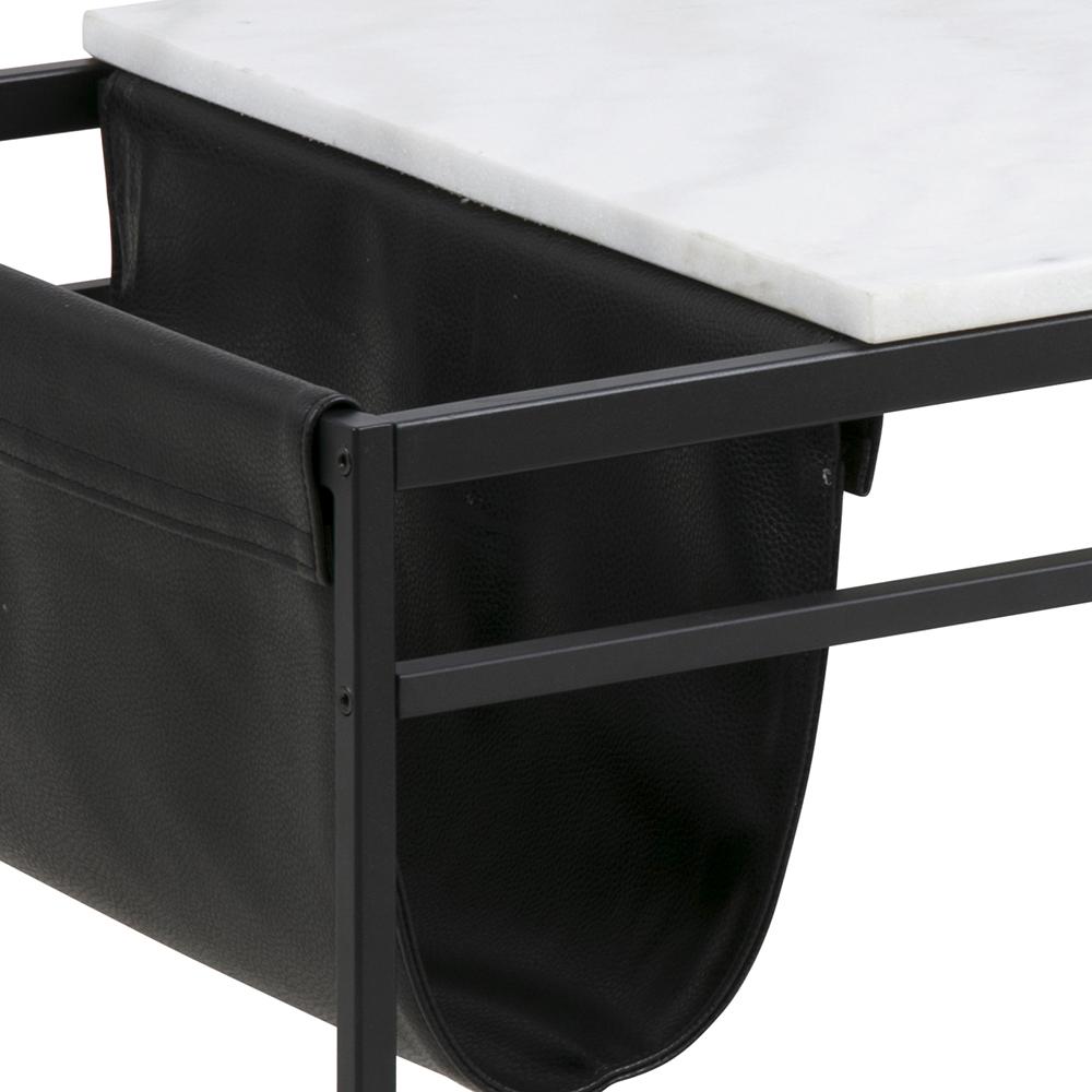 Konferenční stolek s mramorovou deskou Alya, 115 cm