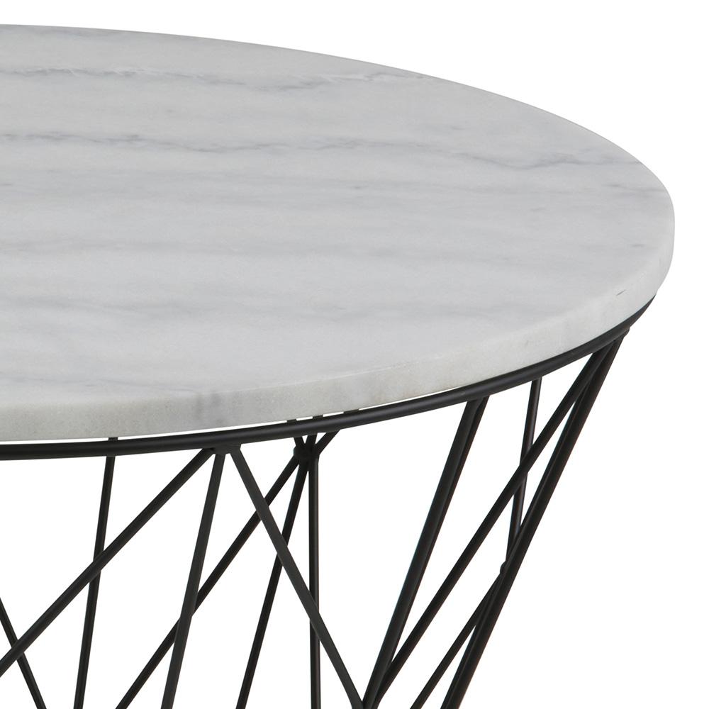 Konferenční stolek s mramorovou deskou Gone, 80 cm