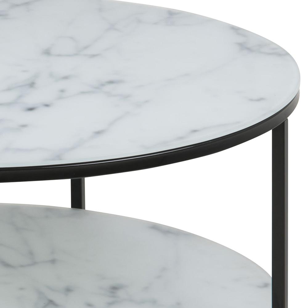 Konferenční stolek s policí Alma, 80 cm