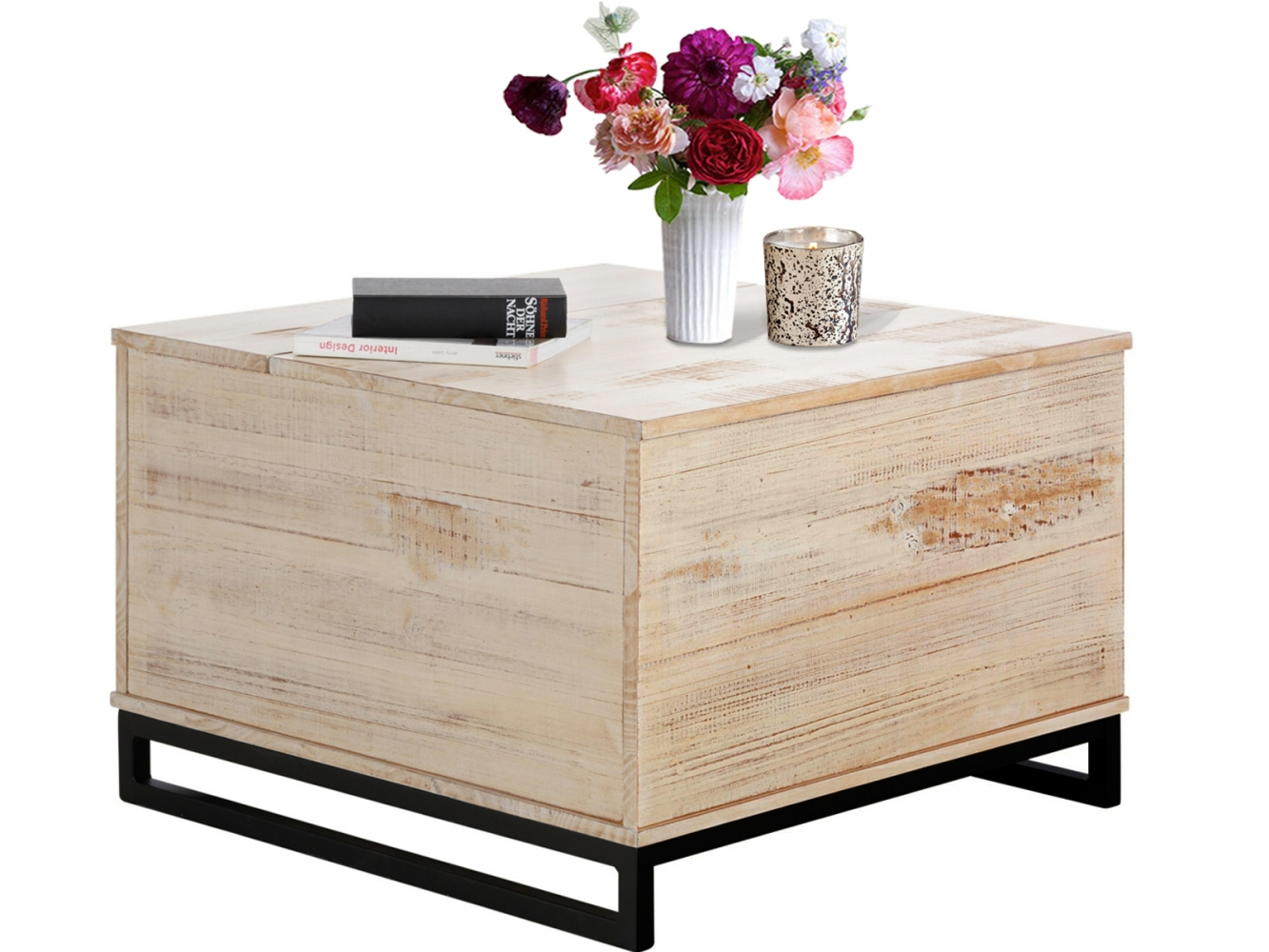 Konferenční stolek Sant, 75 cm, bílá