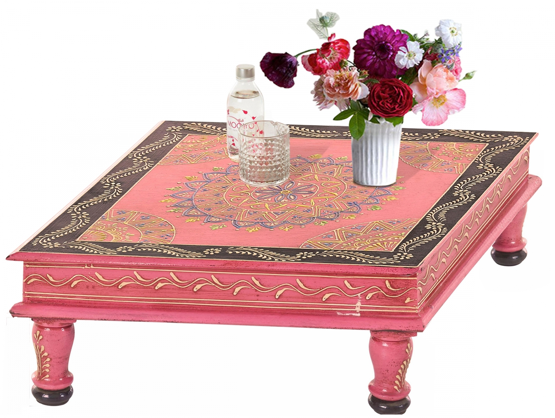 Konferenční stolek Sara, 40 cm, červená