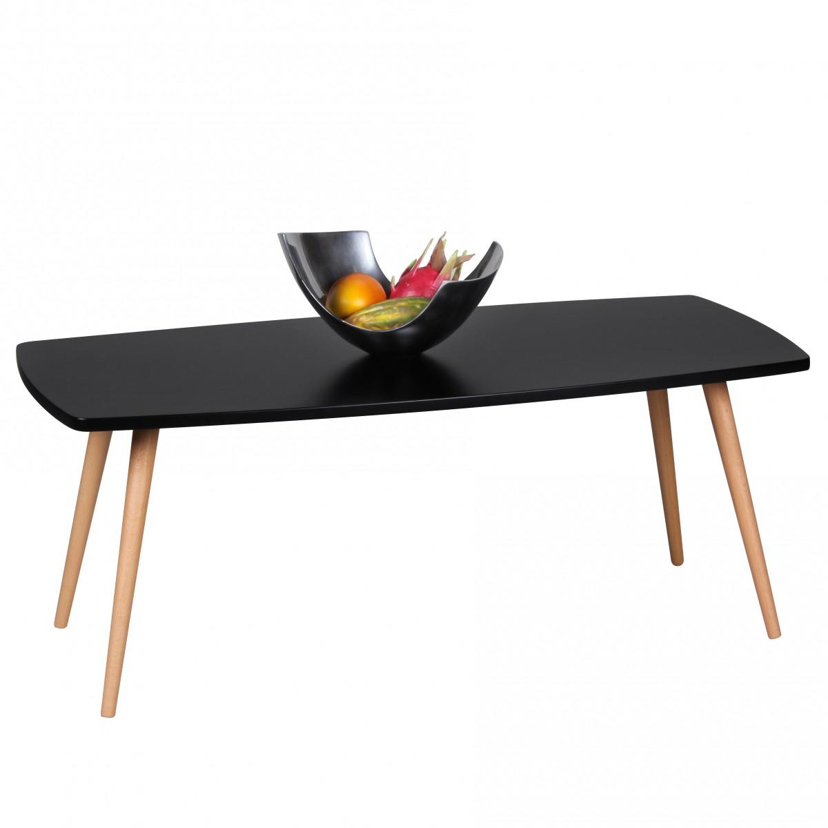 Konferenční stolek Scanio, 110 cm, černá/buk