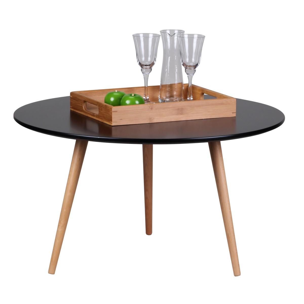 Konferenční stolek Scanio, 80x45 cm, černá/buk