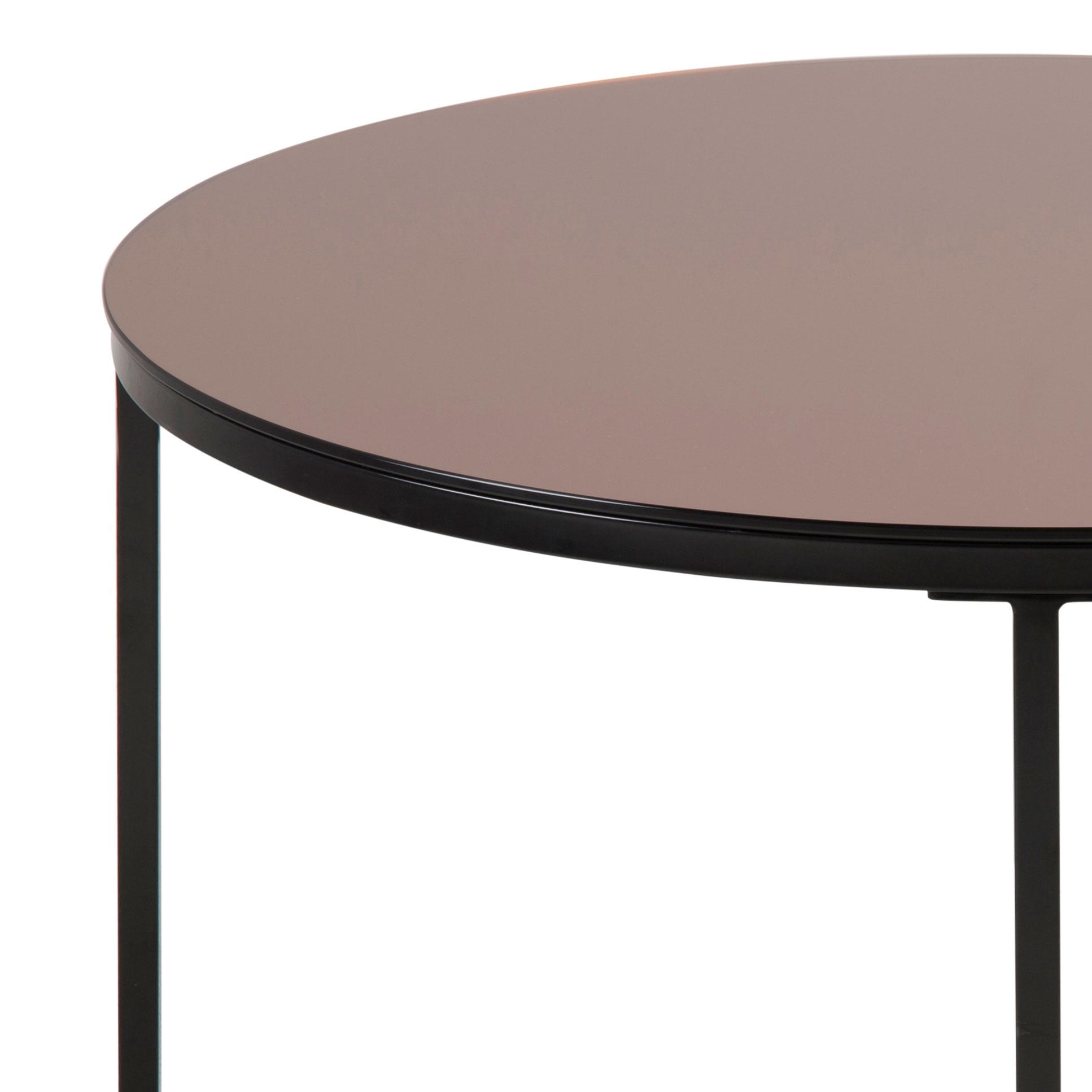 Konferenční stolek skleněný Gira, 80 cm