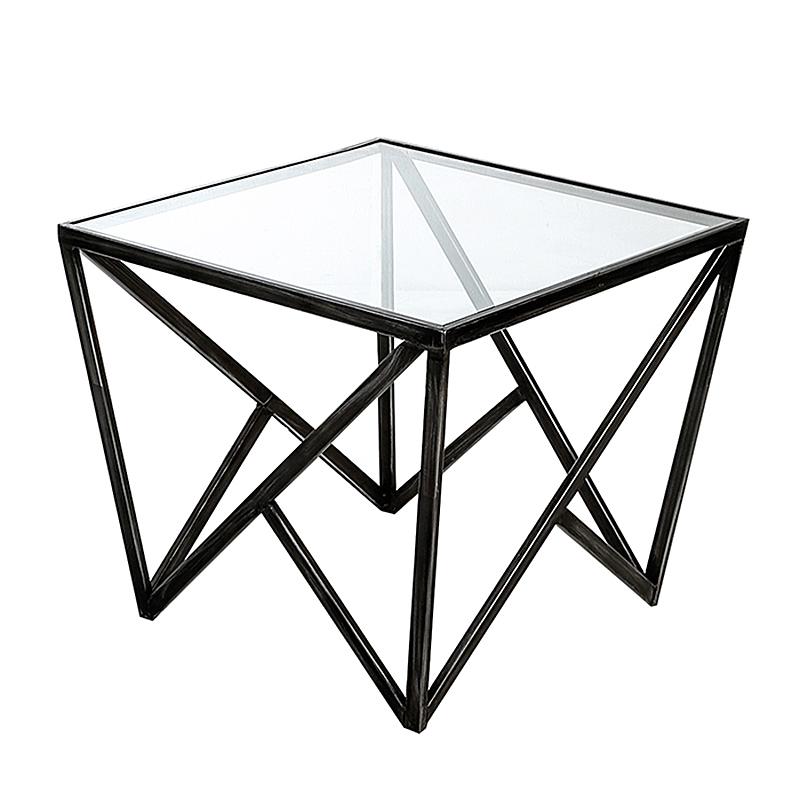 Konferenční stolek skleněný Loft vysoký, 60 cm