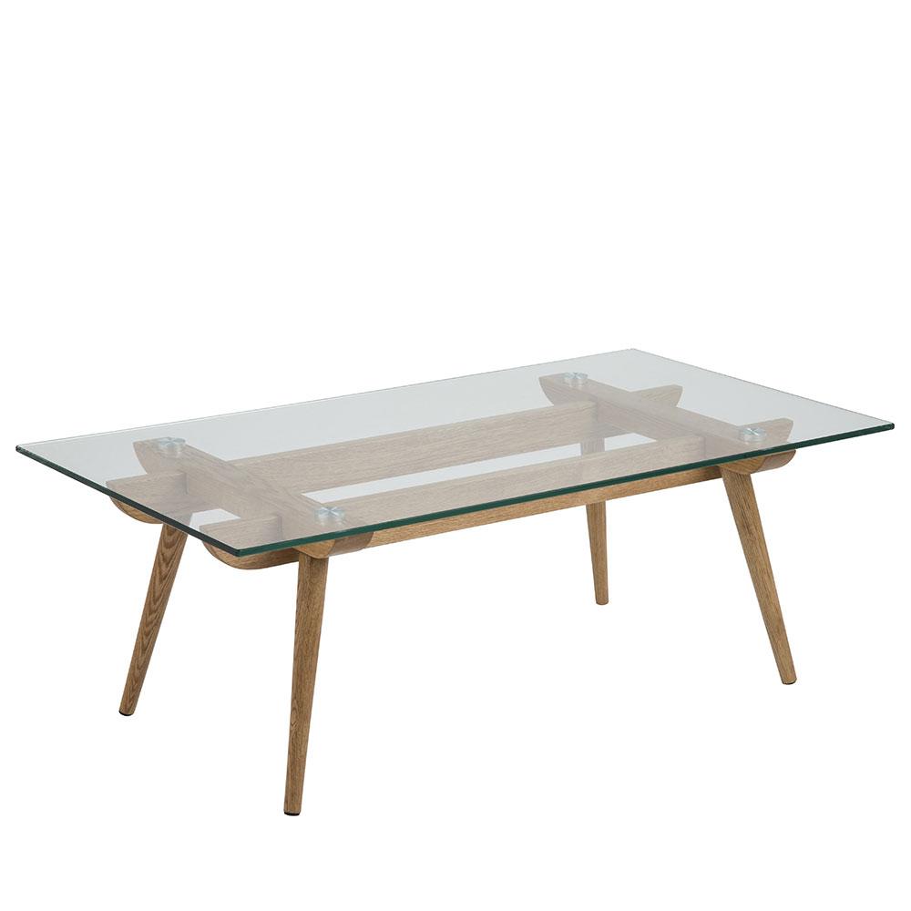 Konferenční stolek skleněný Xena, 110 cm