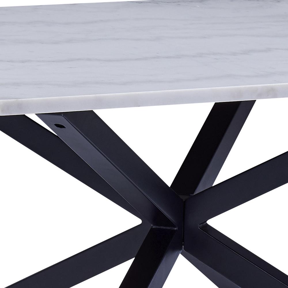 Konferenční stolek Skyline, 80 cm, mramor/černá