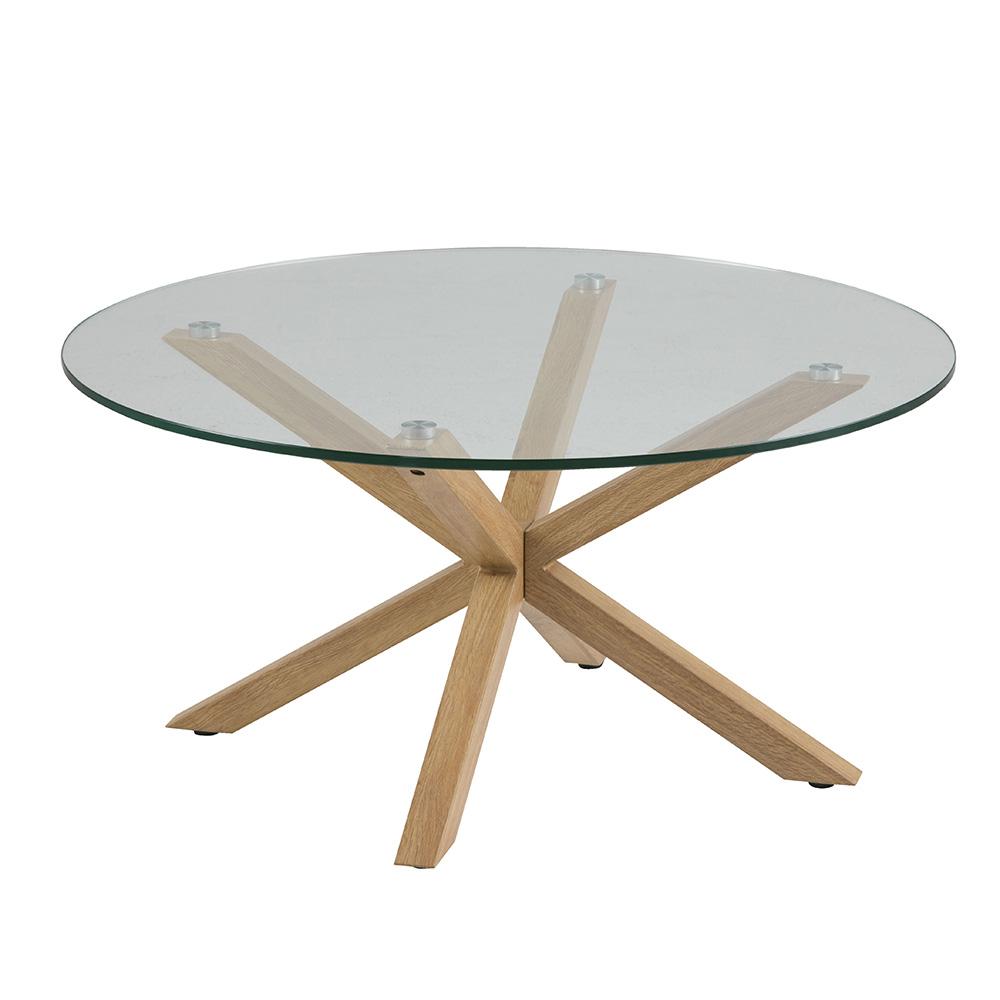 Konferenční stolek Skyline, 82 cm, dub/čirá