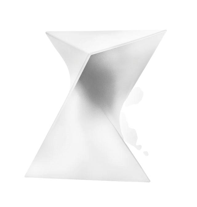 Konferenční stolek Snett, 44 cm, bílá
