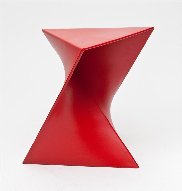 Konferenční stolek Snett, 44 cm, červená