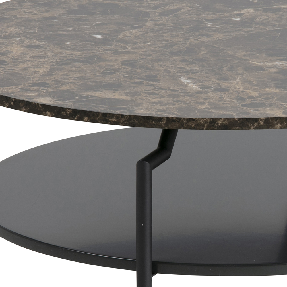 Konferenční stolek Staden, 80 cm, hnědá/černá