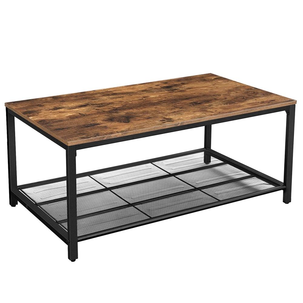 Konferenční stolek Stella, 106 cm, hnědá / černá