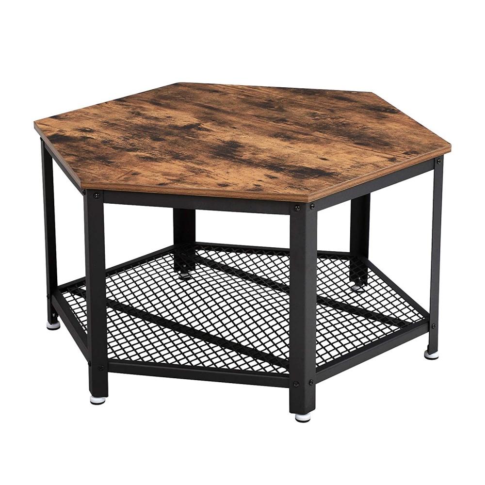 Konferenční stolek Stella, 75 cm, hnědá / černá