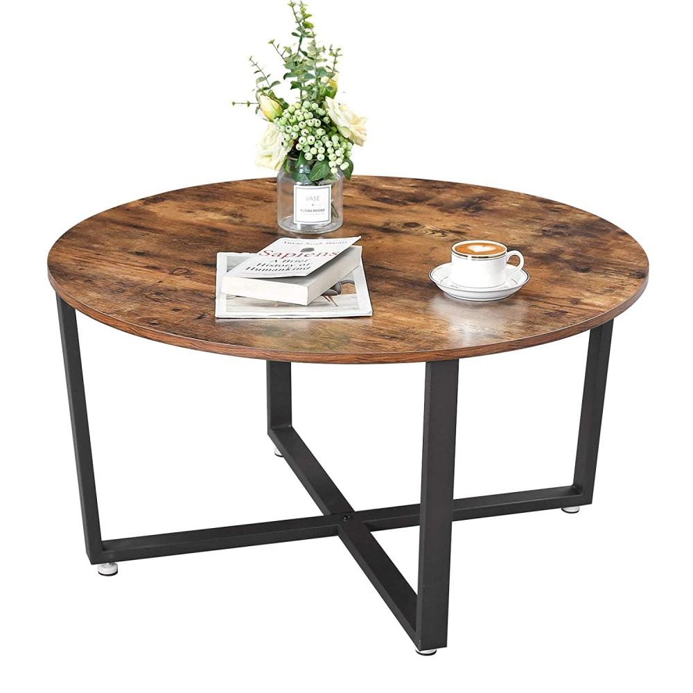 Konferenční stolek Stella, 88 cm, hnědá / černá