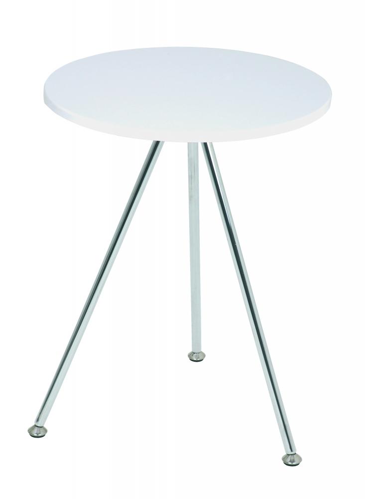 Konferenční stolek Sutton, 52 cm, bílá / chrom