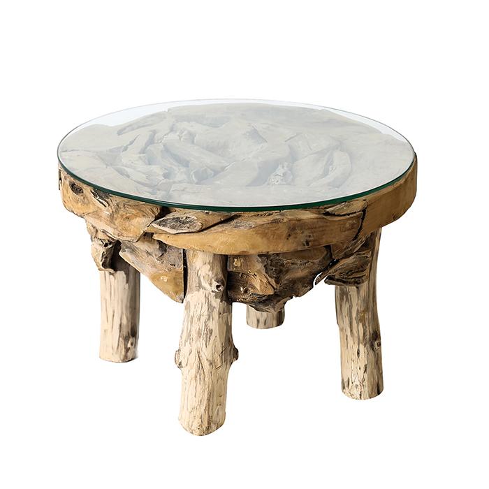 Konferenční stolek teakový Roby, 60 cm