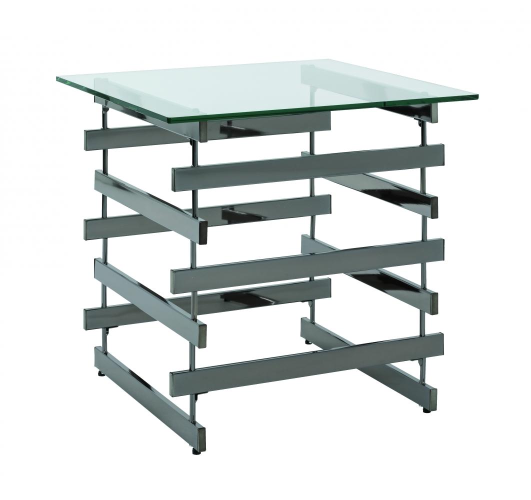 Konferenční stolek Tony, 55 cm, tmavý chrom