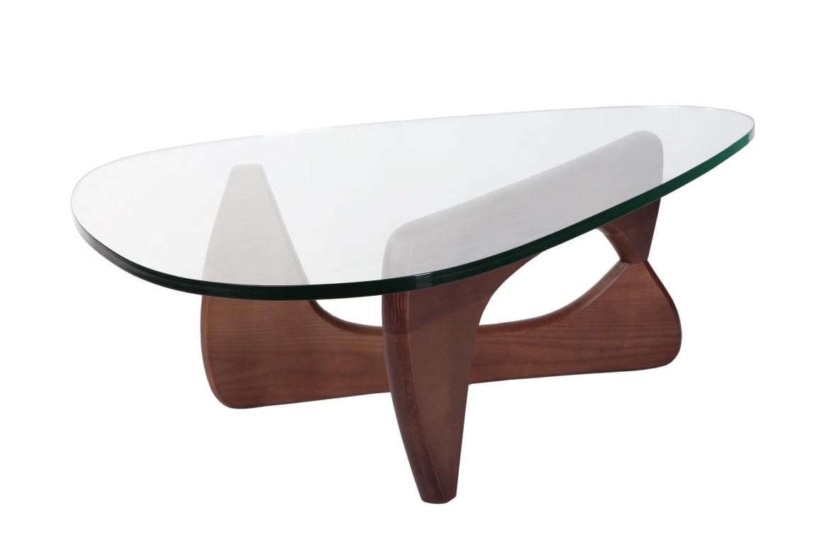 Konferenční stolek Trekant, 125 cm, ořech