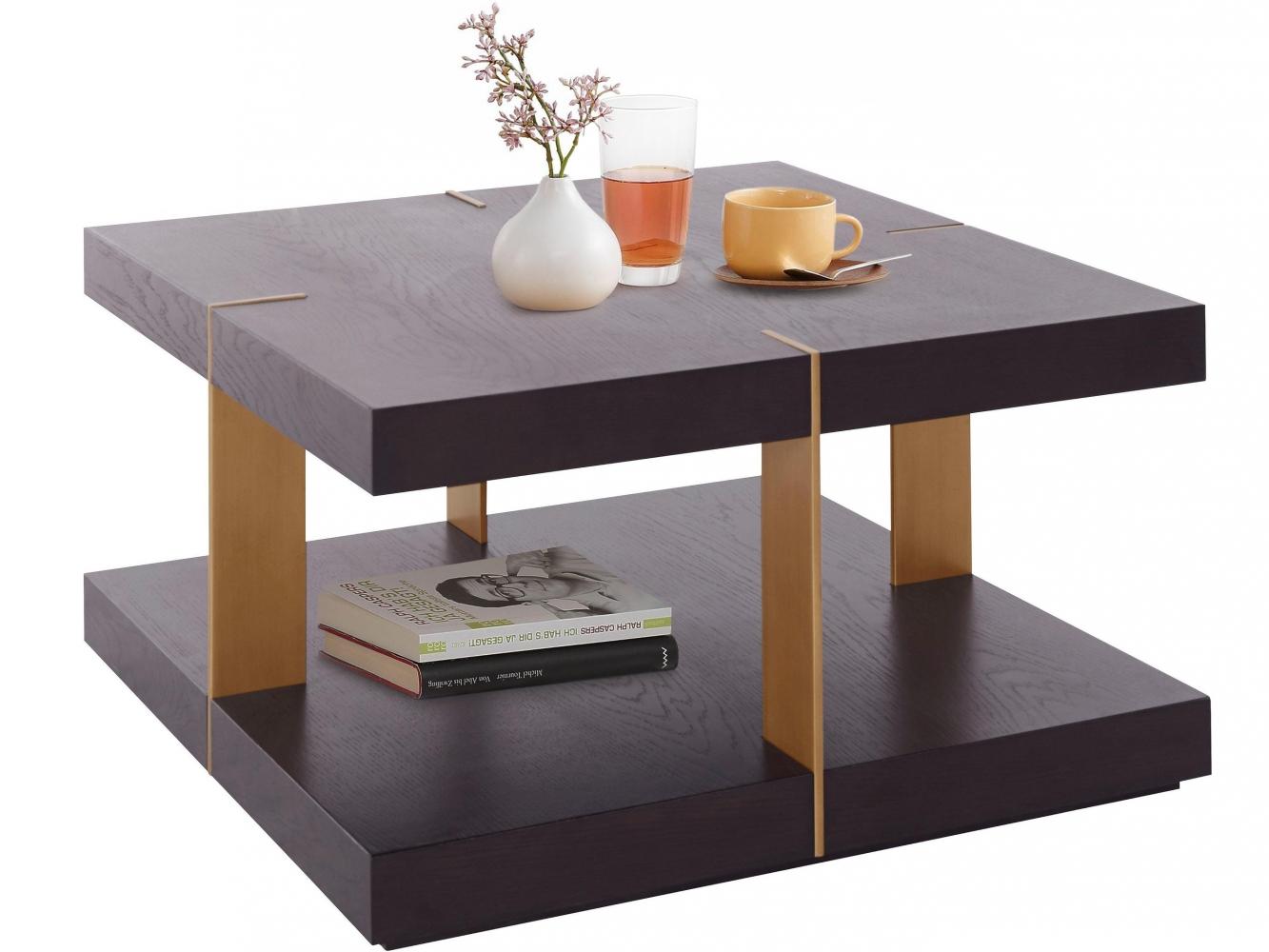 Konferenční stolek Veranzo, 50 cm, hnědá