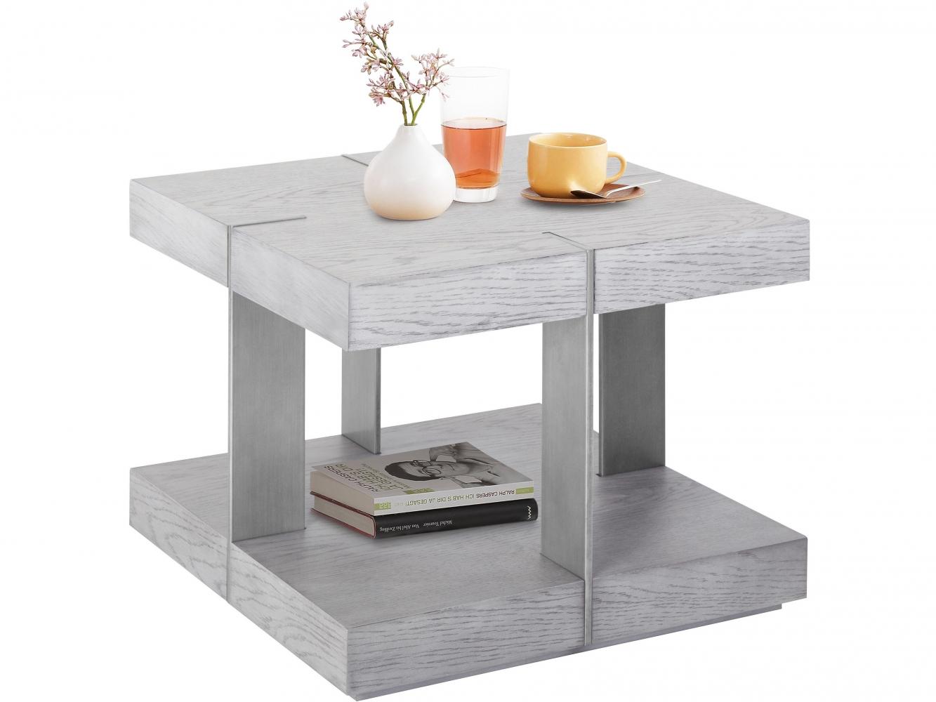 Konferenční stolek Veranzo, 50 cm, stříbrná
