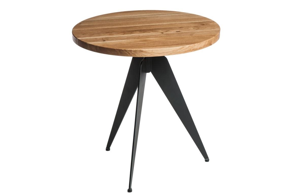 Konferenční stolek Vinden, 59 cm, dřevo/černá